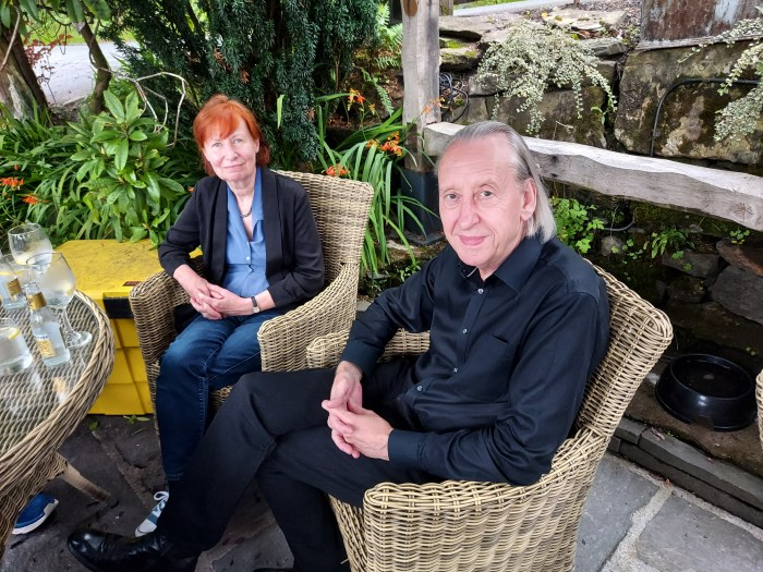 Mary and Bryan Talbot. Bryan has recorded a special video for LICAF Live