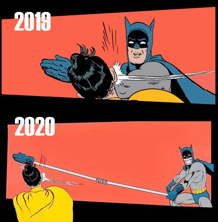 "The creator of this take on the ""Batman Slap"" meme is unknown"