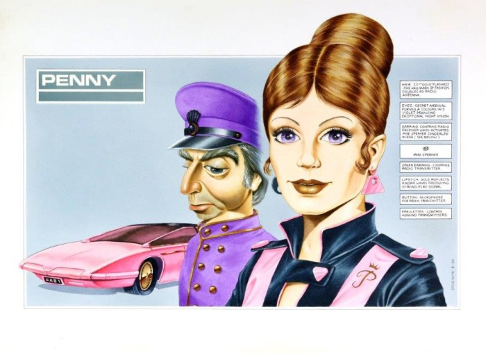 A hand-drawn concept design artwork for T-Force. Art by Steve Kyte
