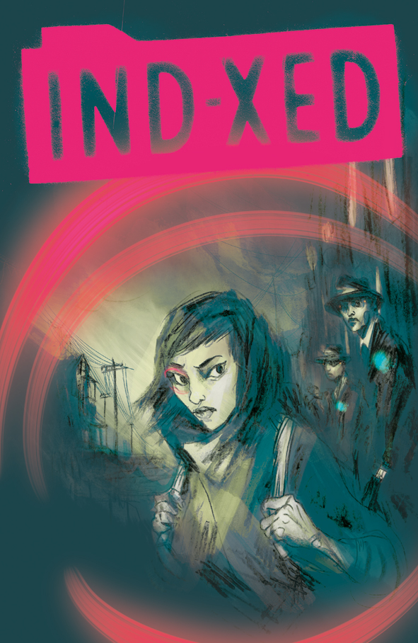 IND-XED, a Lo-Fi Sci-Fi written by Fraser Campbell with art by Lucy Sullivan and lettered by Hassan Otsmane-Elhaou