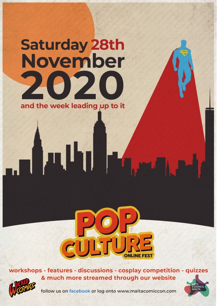 Malta Comic Con - Pop Culture Online Fest 2020