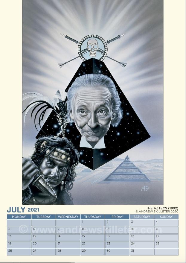 Andrew Skilleter's Doctor Who VHS Cover Art Calendar 2021 - The Aztecs