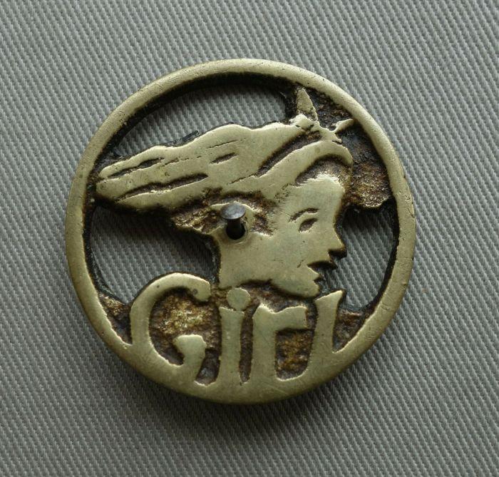 Girl Comic - 1950s Badge