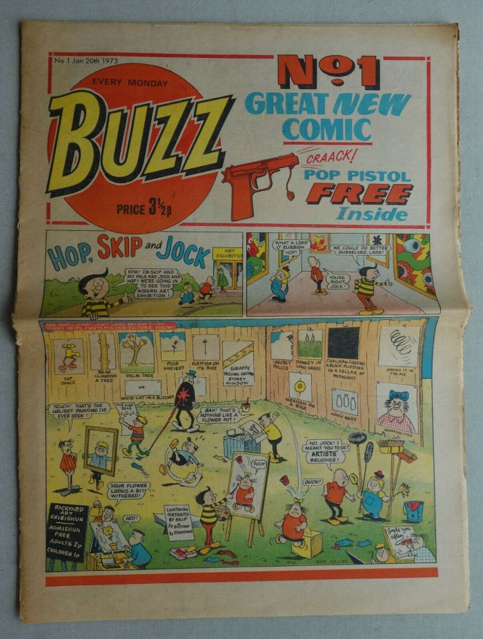 Buzz Issue 1, cover dated 20th January 1973