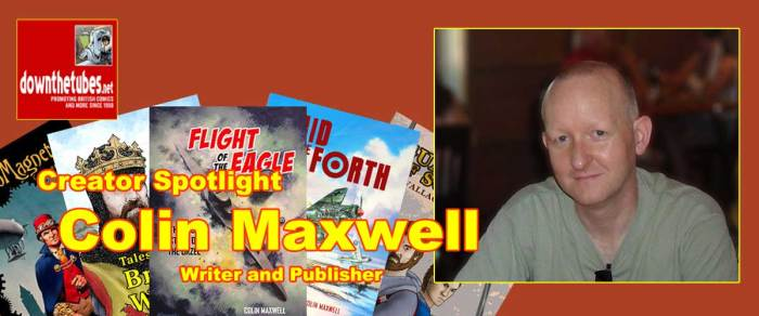 Comics Writer Colin Maxwell