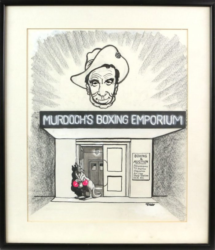 Murdoch's Boxing Emporium by Carl Giles