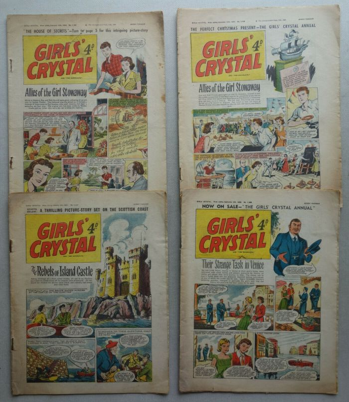 Girl's Crystal - Various issues from 1958