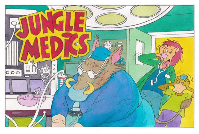 Jungle Medics, published digitally in 2015, created by Bill Titcombe