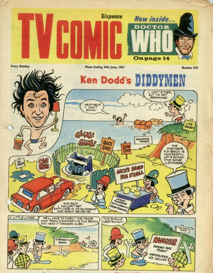 """""""Ken Dodd's Diddymen"""" make their arrival in TV Comic in Issue 810, cover dated 24th June 1967"""