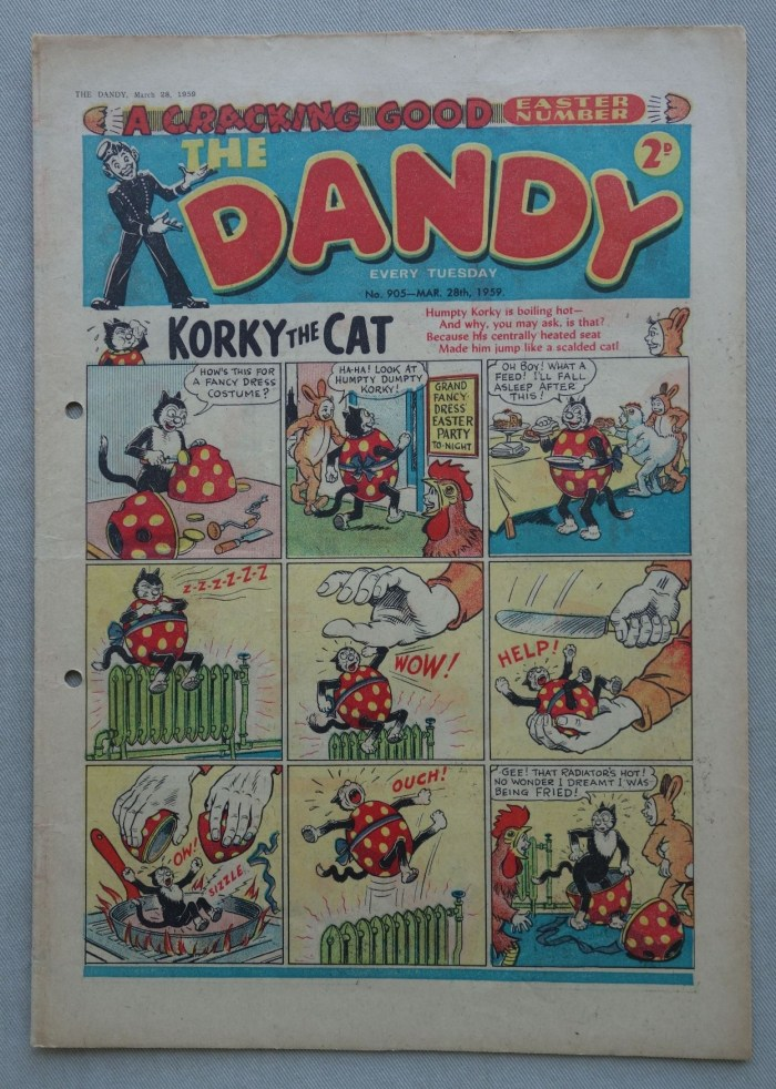 Dandy Issue 905 - cover dated 28th March 1959 - Easter issue