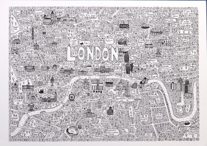 Dave Gee's Doodle Map - London