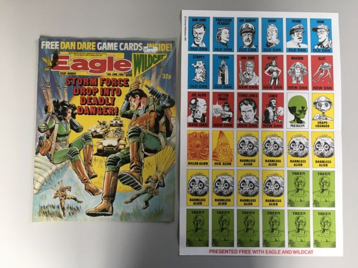 Eagle and Wildcat cover dated 10th June 1988 - with Dan Dare game free gift