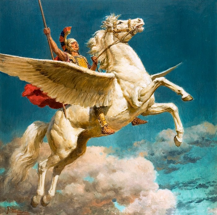 Pegasus the Winged Horse by Fortunino Matania   Via Book Palace Books   The Illustration Art Gallery
