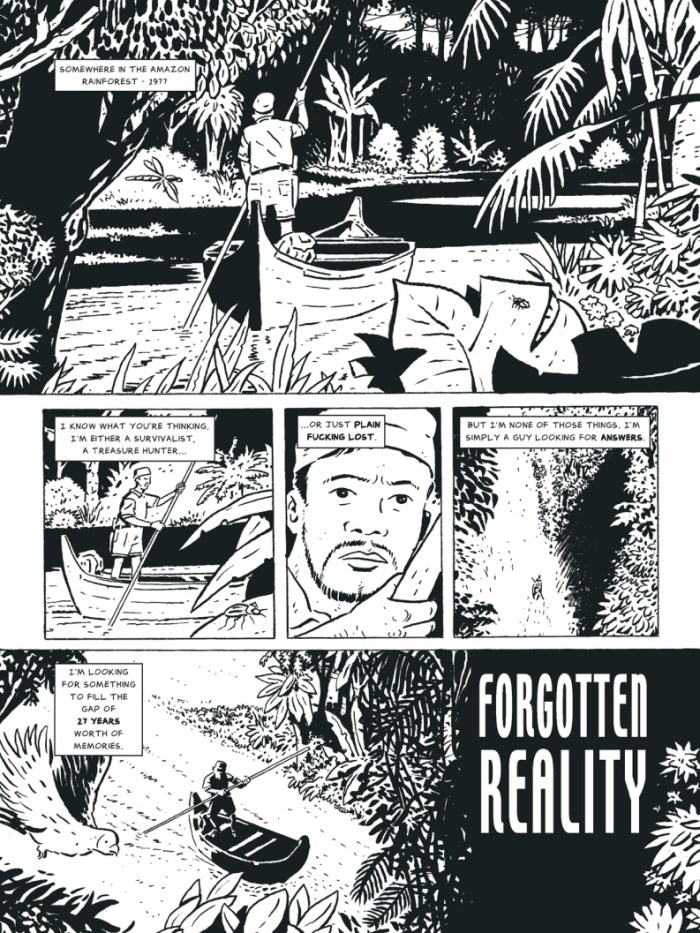 """A page from """"Forgotten Reality"""" by Anna Everts and Phil Elliott, for The77 #3"""