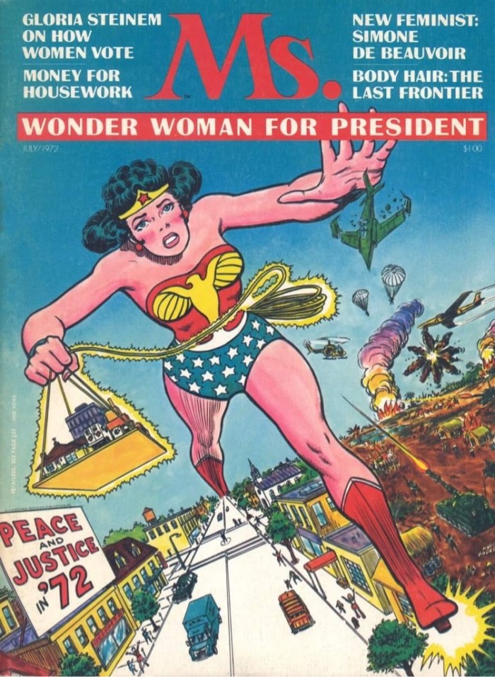 Wonder Woman on the cover of Ms Magazine (1972)