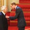 Artist Jon Davis receiving his MBE. Photo courtesy Jon's family