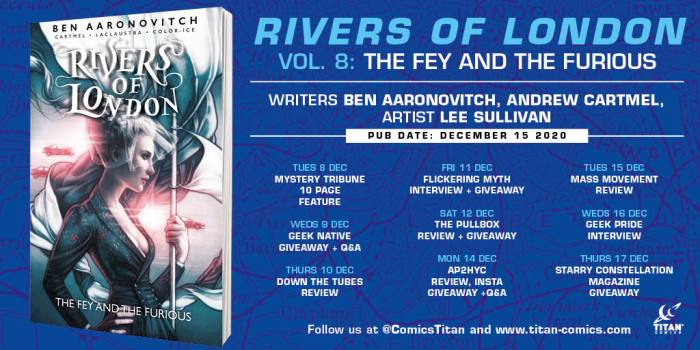 This Review is Part of the Rivers of London: Fey and the Furious Blog Tour