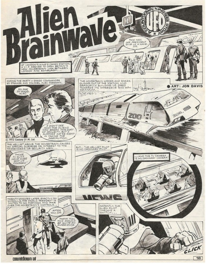 """UFO: Alien Brainwave"" from Countdown Issue 58 - art by Jon Davis"