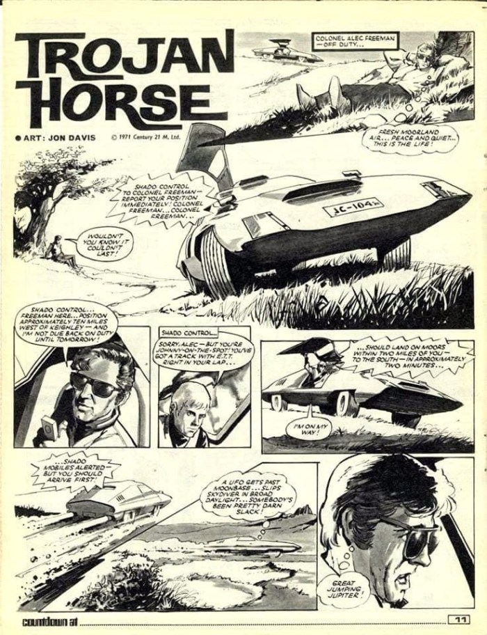 """UFO: Trojan Horse"" from Countdown Issue 40 - art by Jon Davis"