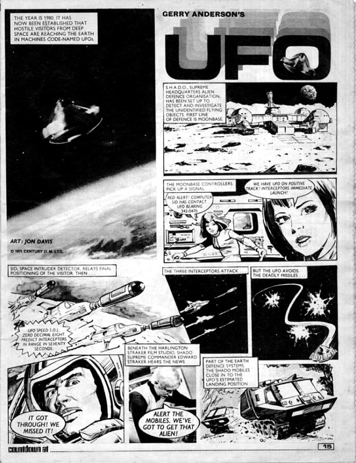 """UFO"" from Countdown Issue 1 - art by Jon Davis"