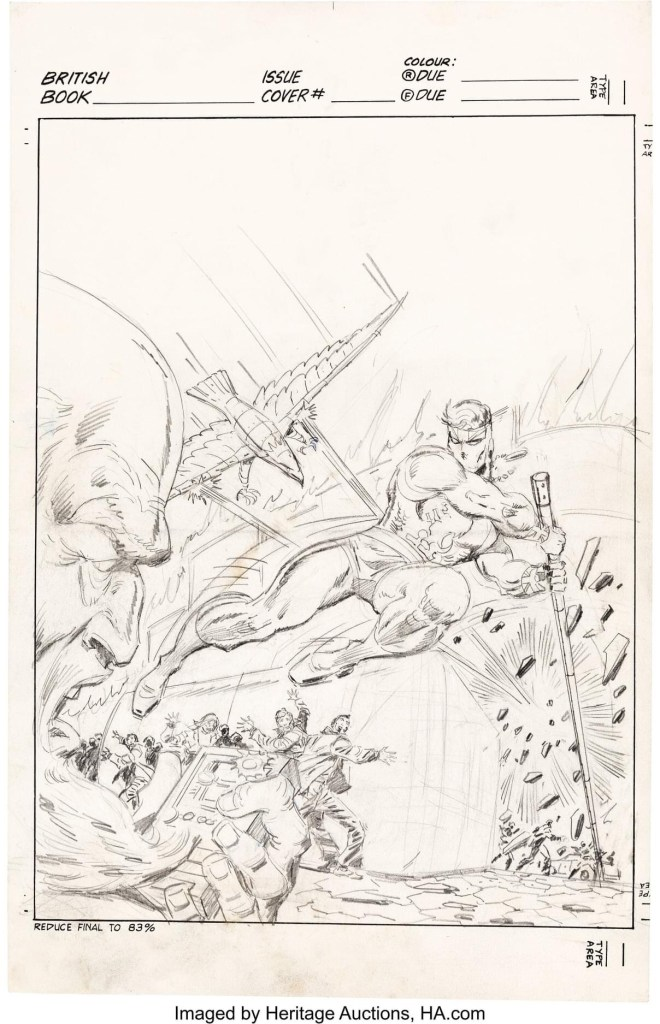 Captain Britain #29 Cover - Unpublished aversion by Ron Wilson