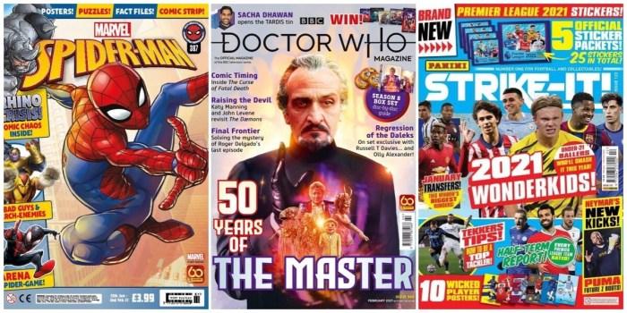 Spider-Man Magazine - Doctor Who Magazine - Strike-It - January 2021