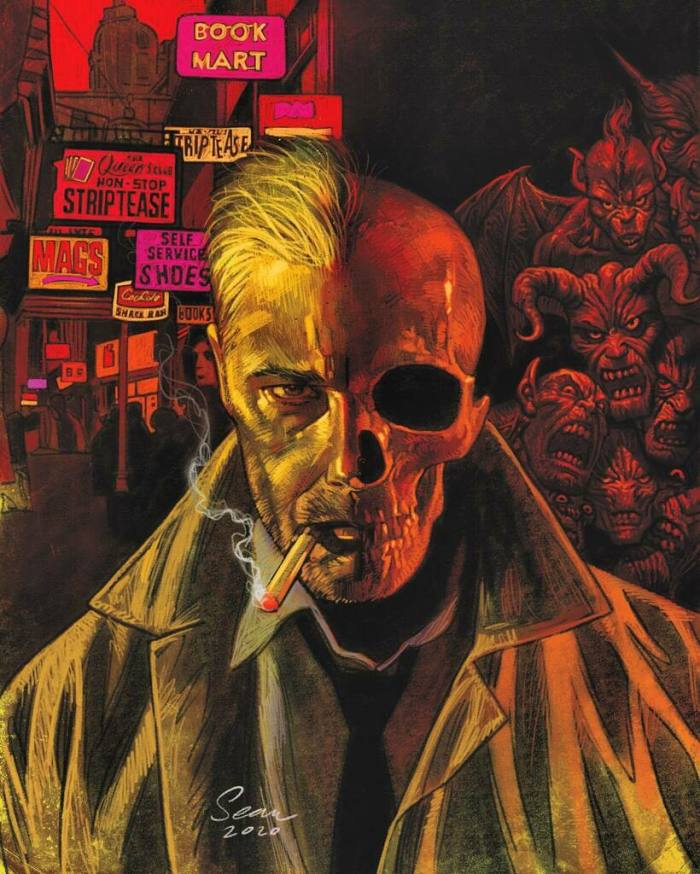 An upcoming Hellblazer cover by Sean Phillips - another commission completed during some of the artist's busiest months