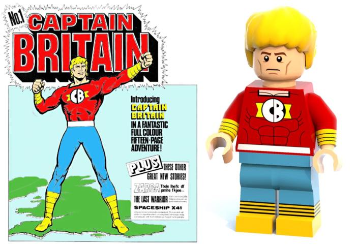 Captain Britain by Eric Bradbury - and his LEGO counterpart