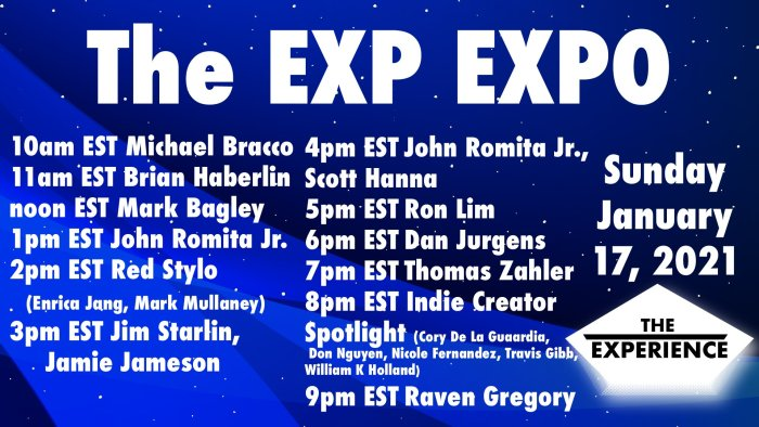 The_EXP - January 2021 - Virtual Convention Guests