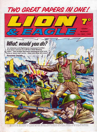 """Lion and Eagle, cover dated 3rd May 1969 - """"Two Great Comics in One"""""""