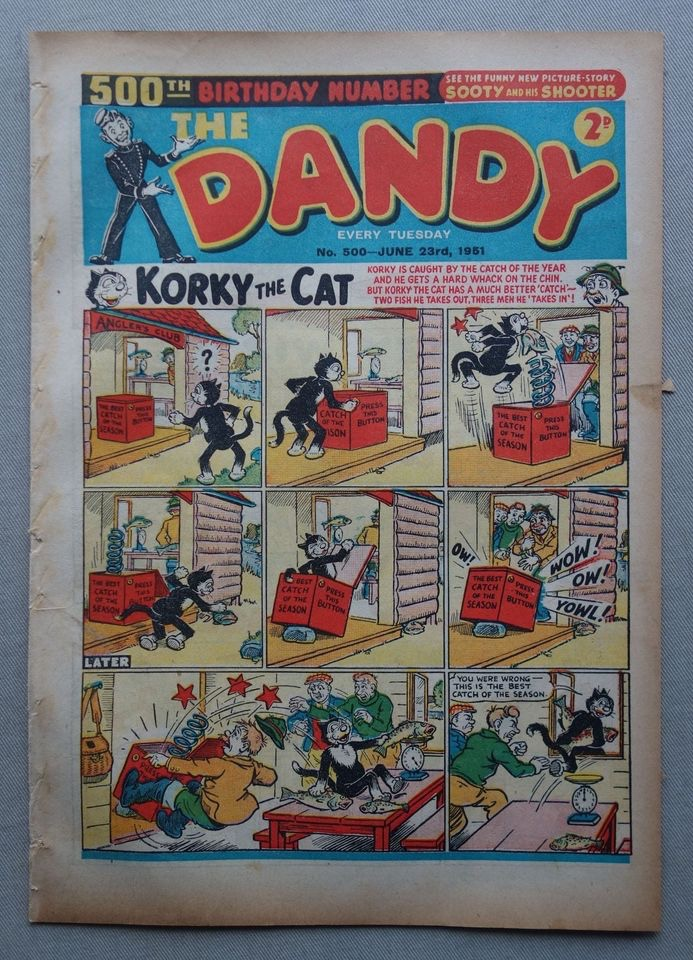 Dandy Issue 500 cover dated 23rd June 1951
