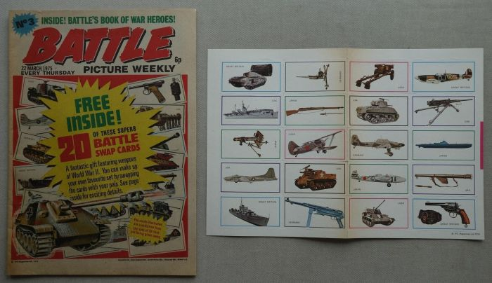Battle Picture Weekly No. 3 cover dated 22nd March 1973, with free gift