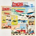 Stingray original artwork (1966) by Gerry Embleton for TV Century 21 No 72 June 1966 The Atomic liner, Mercury smashes into the Discovery Reefs near where Stingray is on patrol. Troy and Phones hover-jet to the deck to find the crew in a coma… and The Brothers of the Dragon are not far away...