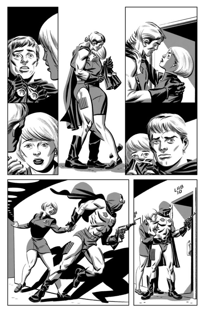 """Page 7 of """"Artemis Rises"""" by Jack Katz, with guest inks by Michael Cho"""