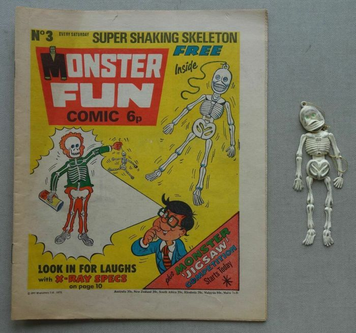 Monster Fun no. 3 cover dated 28th March 1973, with free gift