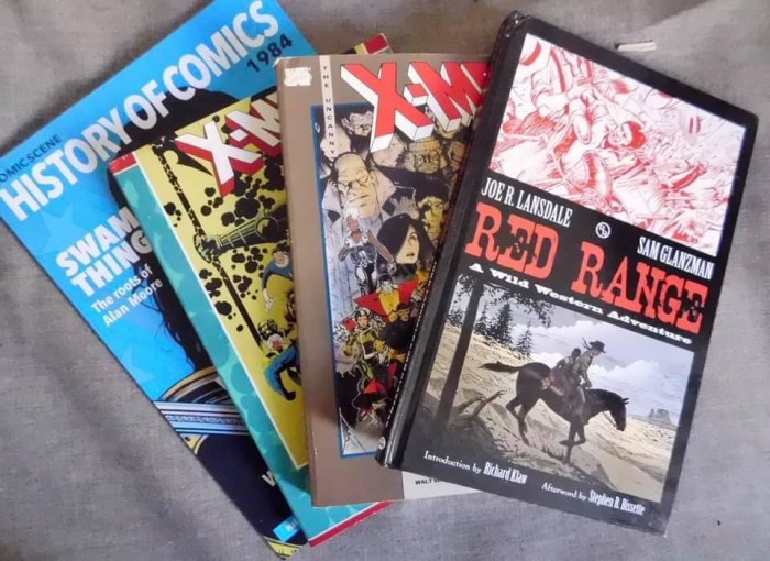 Donated graphic novels