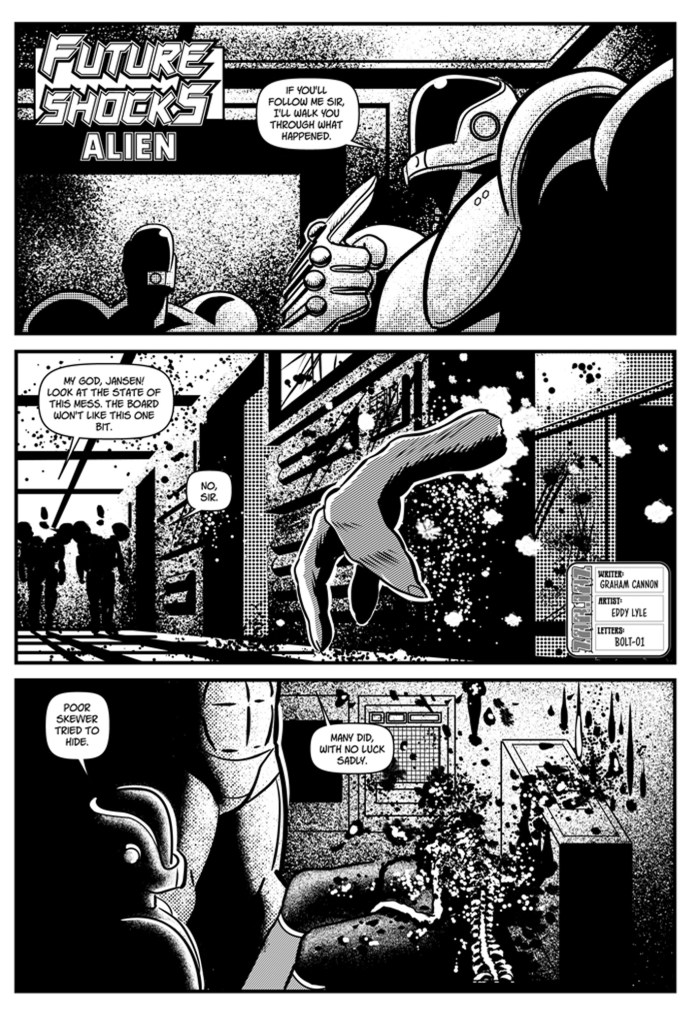 Future Shock - Alien by writer Graham Cannon and artist Eddy Lyle
