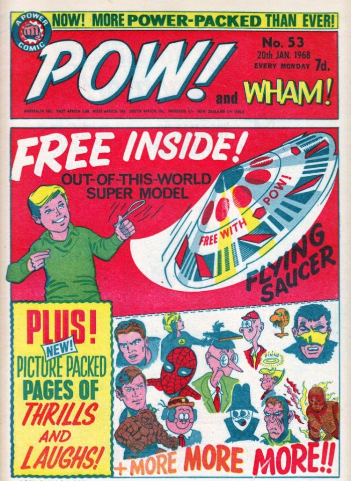 Pow! and Wham! 53 - cover dated 20th January 1968