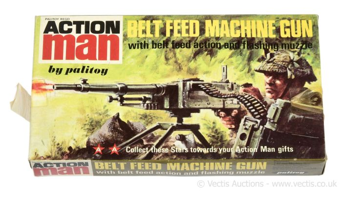 Palitoy Action Man vintage Belt Feed Machine Gun