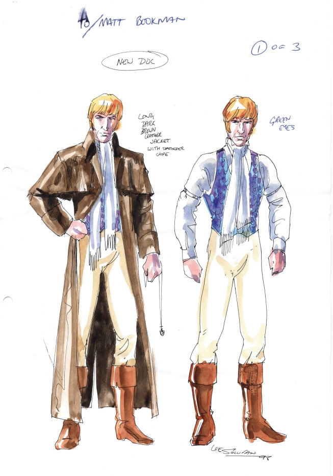 Revised and final designs for the new Doctor by Lee Sullivan