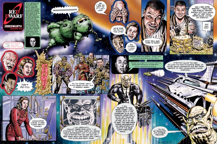 Red Dwarf for the abandoned ROBOT project, scripted by Matt Bookman, art by David Pugh