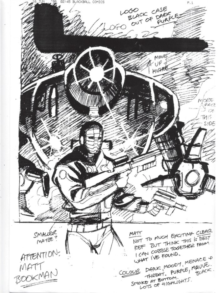 Initial ROBOT cover rough, art by Garry Leach
