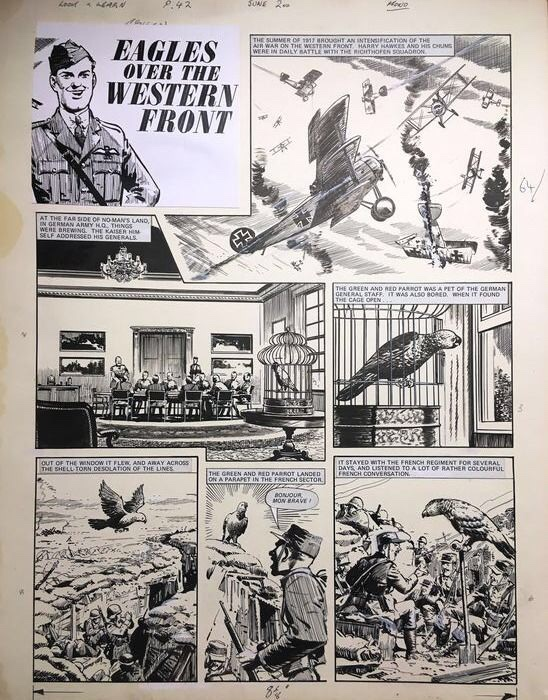 """Look and Learn - """"Eagles over the Western Front"""" by Bill Lacey"""