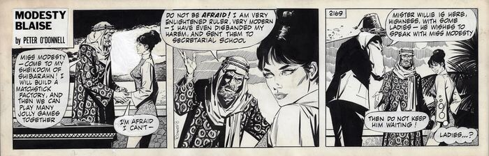 Modesty Blaise by Romero (1970