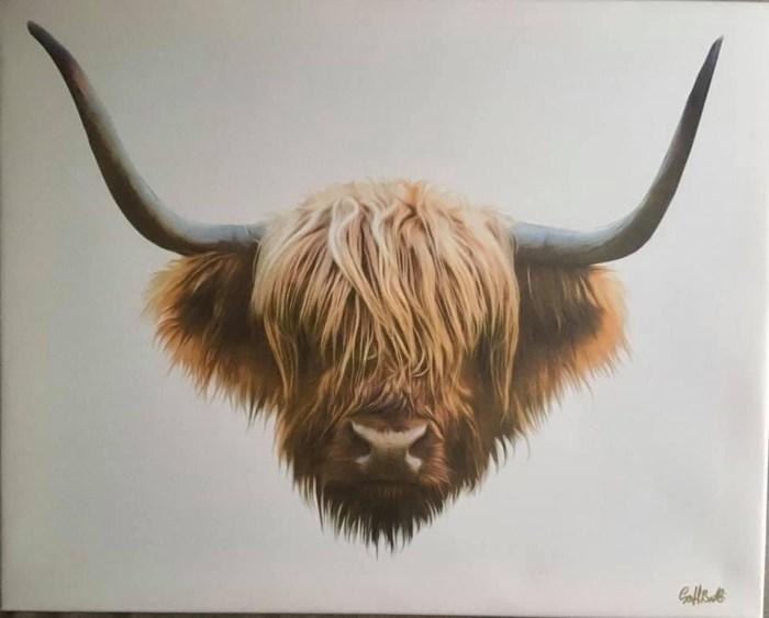 Highland Cow digital print by Geoff Beattie