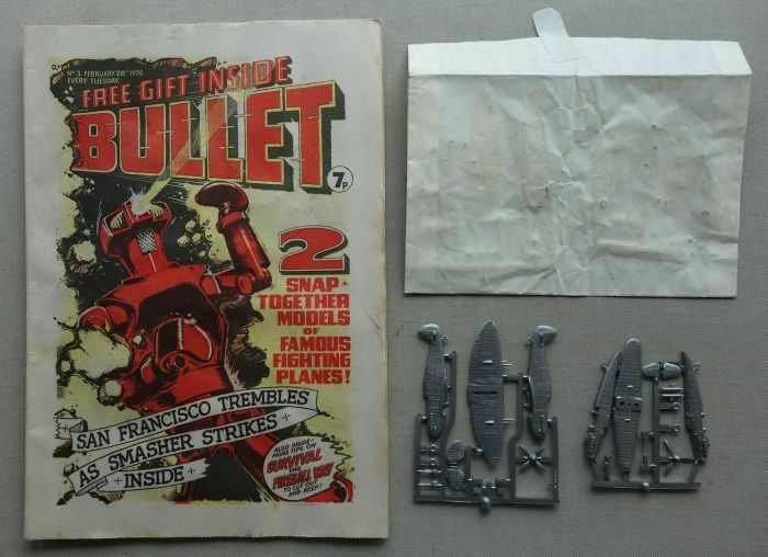 Bullet No. 3, cover dated 28th February 1976, with free gift, unmade model planes