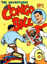 The Adventures of Congo Bill, published by KG Murray, 1951. Cover by Hart Amos