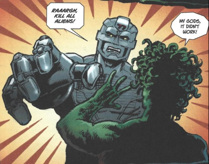 """A panel from """"Division 77"""" from The77 #4. Script by Dave Heeley, art by Sinclair Elliot, coloured by Darren Stephens, lettered by Bolt-01"""