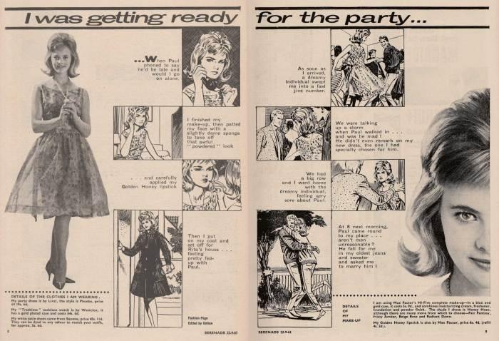 Serenade 1 - Fashion Spread with illustrations by Rab Hamilton