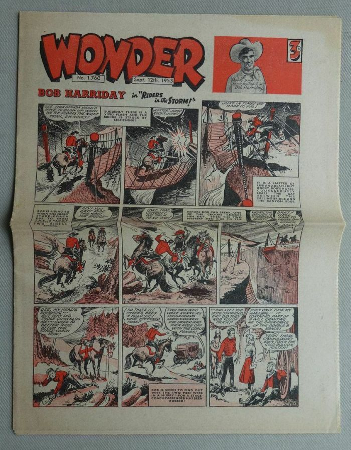 The final issue of Wonder, No. 1760, cover dated 12th September 1953. Inside readers are advised of the launch of TV Fun the following week, an indication of the changing face of the media landscape...